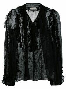 Zimmermann ruffled long sleeves shirt - Black