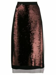 McQ Alexander McQueen sequin panel skirt - Black