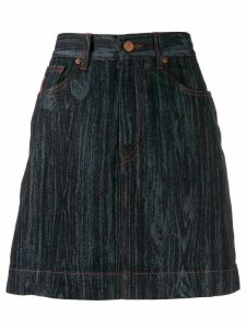 Vivienne Westwood Anglomania wood effect denim skirt - Blue