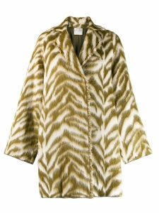Forte Forte animal print coat - Green