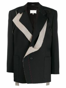Maison Margiela asymmetric tailored blazer - Black