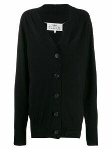 Maison Margiela cut-out cashmere cardigan - Black