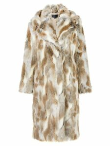 Nili Lotan oversized faux-fur coat - Brown