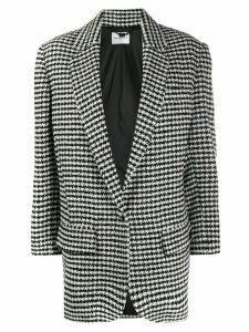 be blumarine houndstooth oversized blazer - Black