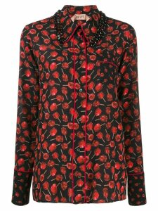 Nº21 cherry print shirt - Black