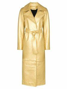 Skiim Karla tie-waist trench coat - GOLD