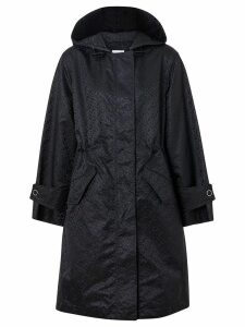 Burberry monogram jacquard hooded parka - Black