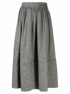 Holland & Holland mid-length pleated skirt - Grey