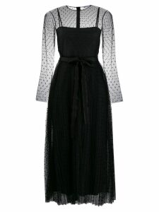 Red Valentino dotted tulle midi dress - Black
