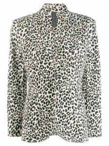 Norma Kamali leopard print blazer - Brown