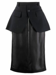 Maison Margiela peplum straight skirt - Blue