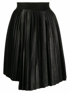 Nude pleated mini skirt - Black