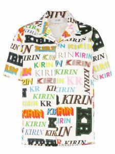 Kirin logo print short sleeve shirt - Green