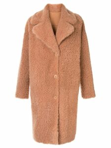 Drome lamb fur coat - Orange