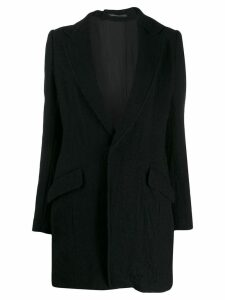 Y's fitted single-breasted coat - Black
