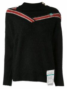 Maison Mihara Yasuhiro Racoon knit jumper - Blue