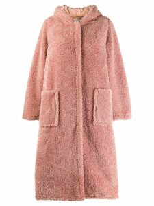 Forte Forte hooded faux-shearling coat - Pink