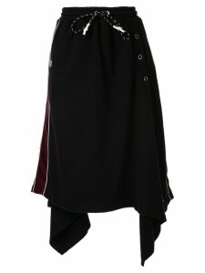 Maison Mihara Yasuhiro Rectangle snap skirt - Black