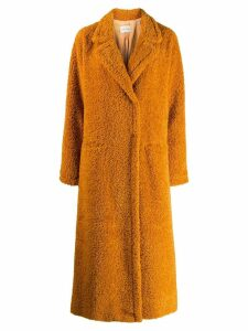 Forte Forte oversized faux-shearling coat - Orange