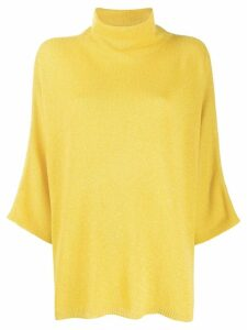 Etro roll-neck cape sweater - Yellow