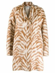 Forte Forte zebra print coat - Brown