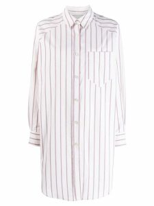Isabel Marant Étoile Sanders striped shirt dress - White