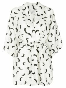 Onia kimono beach cover-up - White