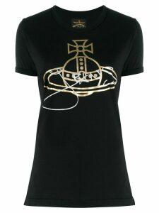 Vivienne Westwood Anglomania metallic effect printed logo T-shirt -