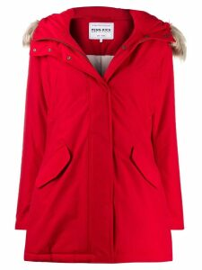 Woolrich zipped waterproof raincoat - Red