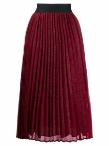 Edward Achour Paris pleated flared skirt
