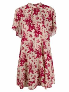 Red Valentino floral ruffled dress - Neutrals