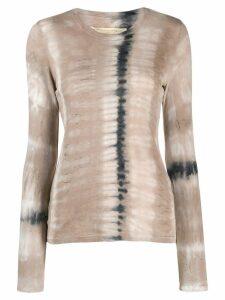 Raquel Allegra tie-dye sweatshirt top - Neutrals
