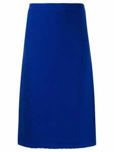 Victoria Victoria Beckham chevron textured-knit skirt - Blue