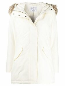 Woolrich zipped waterproof raincoat - White