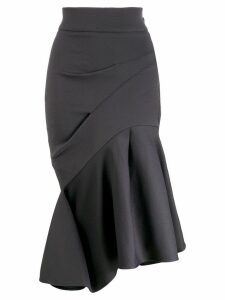 Maticevski ruffled asymmetric hem skirt - Blue