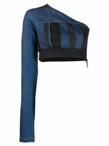 No Ka' Oi denim one-shoulder top - Blue