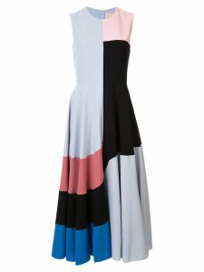 Roksanda colour block shift dress - Blue