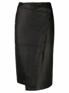 Nude fitted pencil skirt - Black