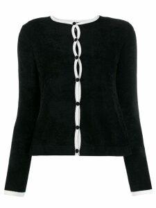 Emporio Armani two-tone cardigan - Black
