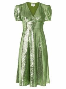 HVN Paula sequin-embellished dress - Green