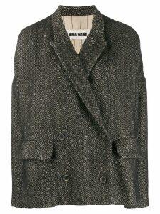 Uma Wang oversized double-breasted blazer - Brown