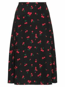 HVN Wiona cherry print skirt - Black