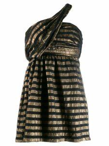 Saint Laurent lamé stripe dress - Gold