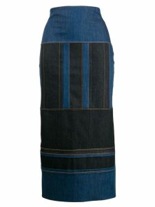 No Ka' Oi pencil midi skirt - Blue