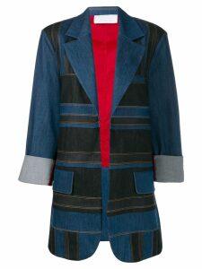 No Ka' Oi contrast denim blazer - Blue