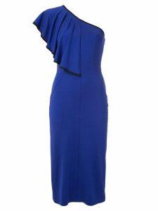 Tufi Duek one shoulder ruffle dress - Blue