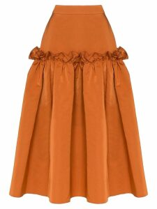 Roksanda ruffle detail midi skirt - Orange
