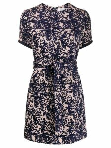 Victoria Victoria Beckham jacquard mini dress - Blue