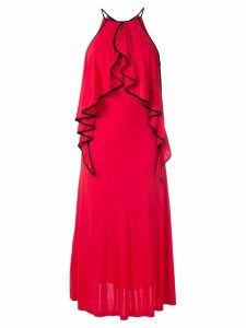 Tufi Duek ruffled gown - Red