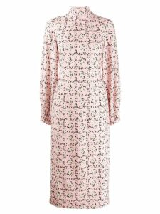 Emilia Wickstead Square Rose print dress - PINK